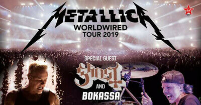 N° 2 Biglietti Vip Golden Circle Metallica Milano Maggio 2019 The Shortest Straw