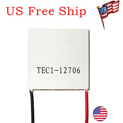 1 Pack TEC1-12706 Heatsink Thermoelectric Mini Cooler Cooling Plate 60W 12V