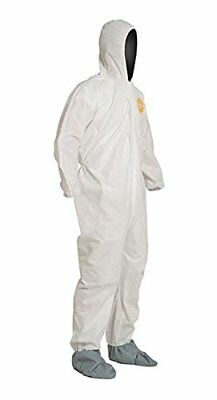 Dupont Hooded Disposable Coverall Cleaning Janitorial Elastic Cuff Bunny Suit