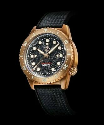 ✅ Zelos Mako V2 500M Diver Bronze Meteorite 500 International Shipping Us Dealer