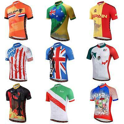 Miloto Country Team Cycling Jersey Top Men's Bike Cycle Jersey Shirts Reflective