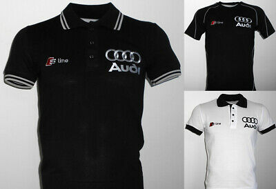 Audi S-line t-shirt camiseta maglietta embroidered logos DTM RS RS4 RS6 S3 S4 S6