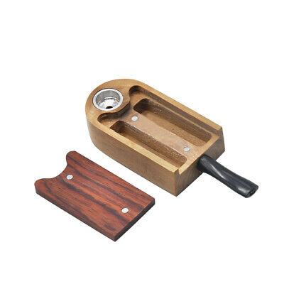 Natural Classic Handmade Rose Wood tobacco Smoking Pipe 106MM With Storage Case