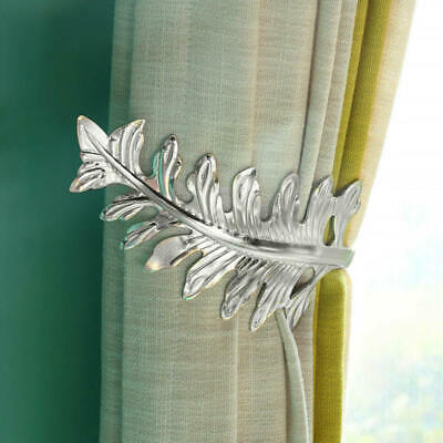 2pcs new Brass Curtain Tiebacks Drapery Holder Tie Backs Cast Leaf Design BWP