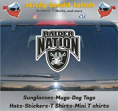 """STICKER For $5.00 We're There PAIR 2 RAIDER NATION """"No Matter Where"""