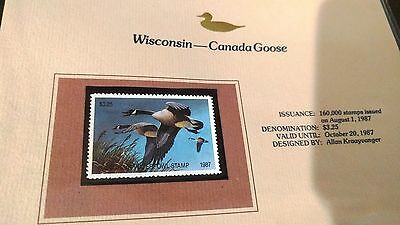 1987 America's State Duck Stamp Collection by Fleetwood, 42 new state stamps(+2)