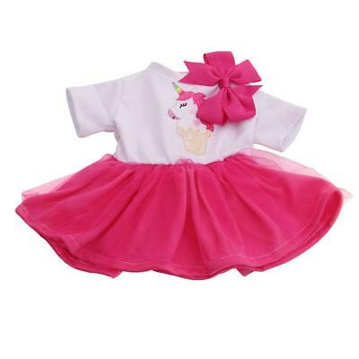 Handmade Clothes Princess Dress and Headwear for 18 Inch Girl Doll Outfits