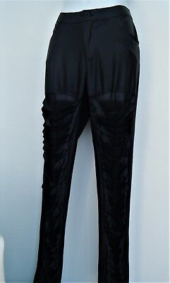 SOHO GIRLS Black Cut out Leggings Pants Solid Size XL Sexy Wet Look Stretchy