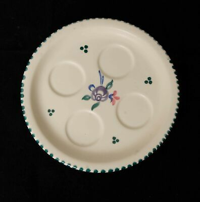Vintage Poole Pottery Egg Cup Plate/Tray NO EGG CUPS