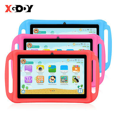 """XGODY 7"""" Android 4.4 Tablet PC For Kids Children 4-core Dual Cam 8GB IPS Bundled"""