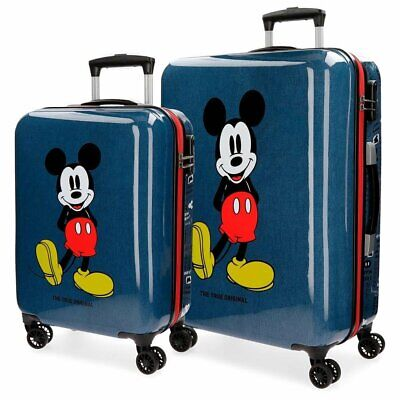 Set 2 Trolley Cabina Mickey Mouse DISNEY Uomo Donna Men Woman Azzurro Light Blue