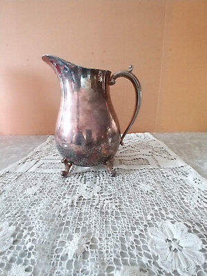 Vintage Silver Plated Pitcher With Markings Silverdo Eale 177
