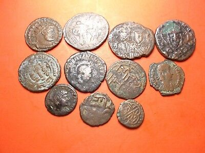 11 X Ancient Old Antique Rare Coins.Romans-Armenians 1K-2K Years Old Historic