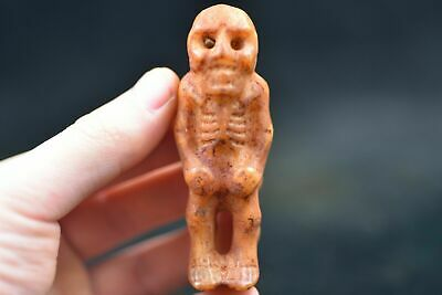 Ancient Chinese Hongshan culture jade carved amulet L21