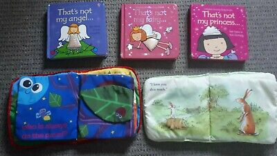 Baby Toddler BOOK BUNDLE Lamaze Soft Thats Not My Guess How Much I Love You