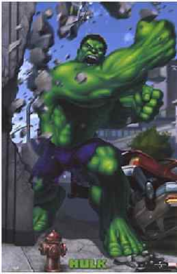 "2003 Hulk Punch Poster Marvel Universe 24X36"" Inch The Avengers NEW RARE OOP"