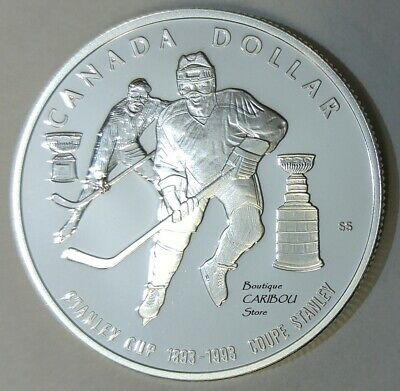 1993 Canada Silver Proof Dollars Stanley Cup