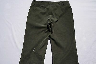 Theory Ultra Thin Wale Soft Wide Leg Corduroy Pants, Cords. Green, Women's 4 GUC
