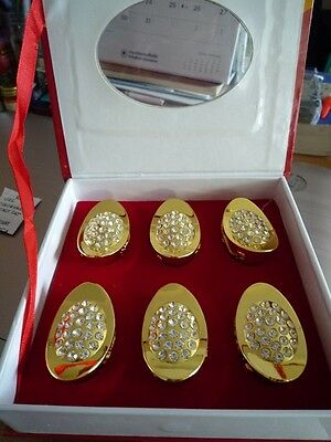 6 Pcs Gold Ingot Yuen Bao Crystal Ancient Chinese Money Feng Shui Wealth Fortune