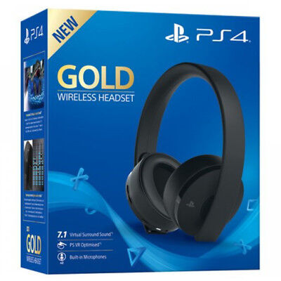 Cuffia Gold Sony Wireless Gaming Per Ps4  Headset Black Edition Stereo