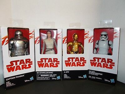 Star Wars Last Jedi - Rey / C-3PO / Captain Phasma / Stormtrooper 4 figures