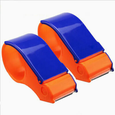 "2 x PACKING TAPE Dispenser GUN 50mm/2"" Hand Parcel Sealing Packaging Roll Cutter"