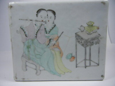 Antique Chinese Chinese  Porcelain Famille Rose Pillow Vase 19Th C