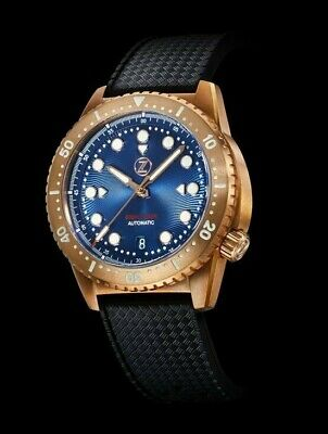 ✅ Zelos Mako V2 500M Diver Bronze Cobalt Blue 500M Internat. Shipping Usa Dealer