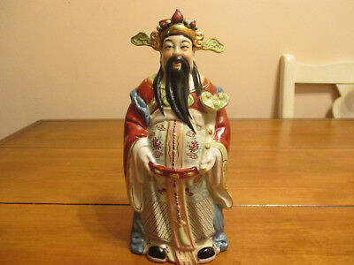 Old Chinese Porcelain Luxing Statue Lu God Of Prosperity & Wealth , Fu Lu Shou