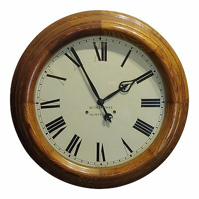 "Seth Thomas 30 days -Fabulous 18"" Oak Gallery Clock-c.1900"