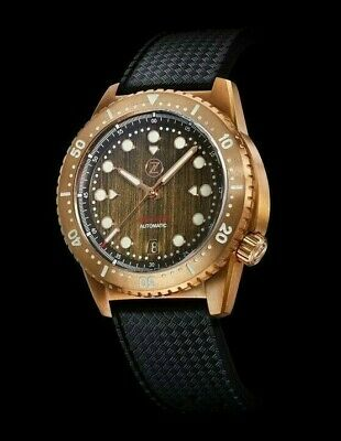 ✅ Zelos Mako V2 500M Diver Bronze Patina 500M International Shipping Usa Dealer