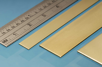 Albion Alloys BRASS STRIP 305mm length full range of sizes Precision Metal