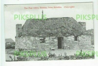 Old Postcard Post Office Eriskay Island Outer Hebrides Scotland Vintage 19005-10