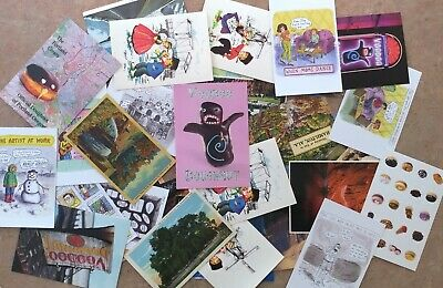 Lot of 40 Postcards-Random Cards from 1930's to Now-Postcrossing-Mailings-Sweeps