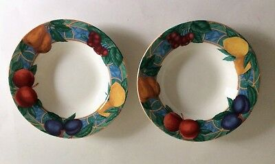 Victoria & Beale Forbidden Fruit 9024 Set of 2 Soup Cereal Salad Bowls Dishes