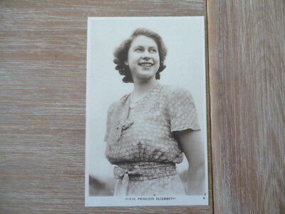 vintage unused post card H.R,H.Princess Elizabeth taken same time