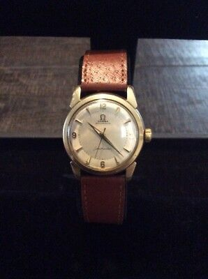 Vintage, 1959 Omega Seamaster 14K Gold Filled Automatic Mens Wrist Watch~