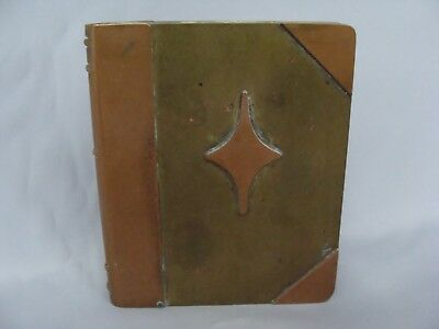 Rare Antique Arts Crafts Roycroft Copper Brass Cigarette Card Case Middle Mark