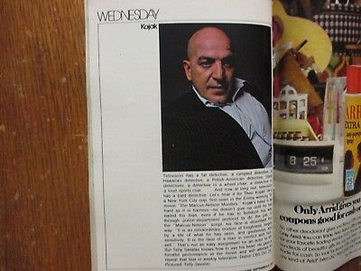 1973 FALL PREVIEW TV Guide Magaz(KOJAK/THE SIX  MILLION DOLLAR  MAN/DIANA RIGG)