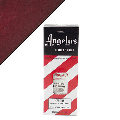 C--065 Angelus Permanent Leather Dye With Applicator 3Oz Wine-Tone