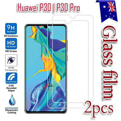 2x Huawei P30 P30 Pro Tempered Glass Scratch Resist Screen Protector Film Guard