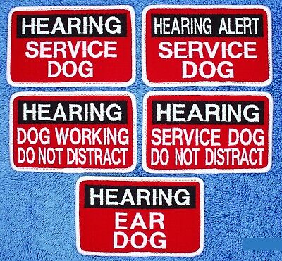 """Hearing Alert Service Dog Patch 2.5X4"""" Assistance Support Medical Danny & LuAnn"""
