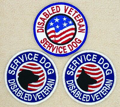 """Disabled Veteran Service Dog Patch 3"""" Medical Assistance Support Danny & LuAnn"""