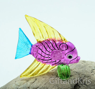GPFI078 Fish Aquarium Glass Figurine Miniature Animal Hand Blown