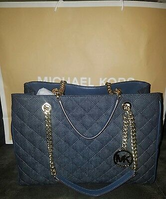 6a3685a447a6 MICHAEL KORS SUSANNAH Ladies Large Leather Tote Handbag 35S7GAHT3B ...