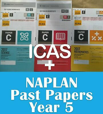 Year 5 ICAS + Naplan Year 5 past papers with answers (2017/18 Answers included)
