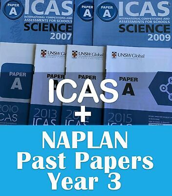 Year 3 ICAS + Naplan Year 3 past papers answers (2017/2018 Answers only include)