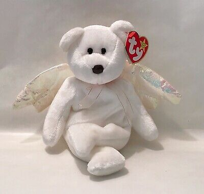 234832e291b Vintage Beanie Baby Original Halo the Angel Bear I Need A Hero To Save Me