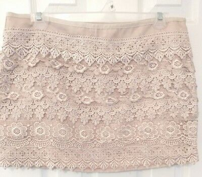 db04f0be8e06 SANS SOUCI MULTI Color Crochet Mini Skirt Size Large ~ Lined ...