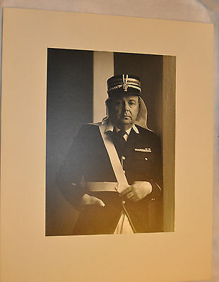 Large Photograph of French Military Soldier *French Foreign Legion? 16 x 20 B&W